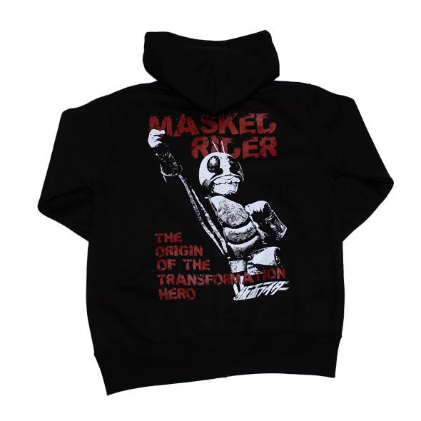 仮面ライダー「MASKED RIDER」ジップアップパーカー(ブラック)