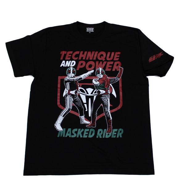 仮面ライダー(ダブルライダー)Tシャツ(ブラック)