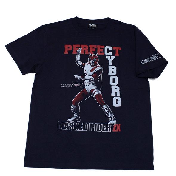 仮面ライダーZX「パーフェクトサイボーグ」Tシャツ(ネイビー)