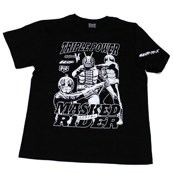 仮面ライダー「トリプルライダー」Tシャツ(ブラック)