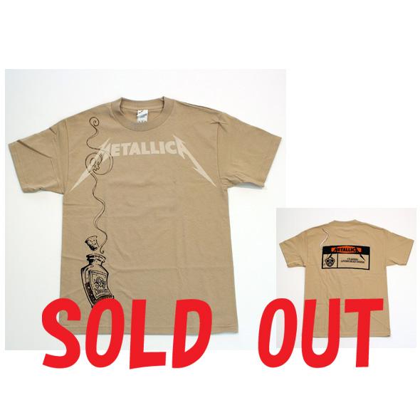 ロックTシャツ/METALLICA(CYANIDE WARNING)/メタリカ(シアンワーニング)RCT121113