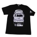 ベルサイユのトラック姐ちゃん(トラックイラスト)Tシャツ(ブラック)