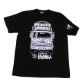 【DM便可】ベルサイユのトラック姐ちゃん(トラックイラスト)Tシャツ(ブラック)