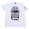 【DM便可】ベルサイユのトラック姐ちゃん(トラックイラスト)Tシャツ(ホワイト)