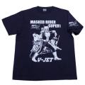 【DM便可】仮面ライダースーパー1(Vジェット)Tシャツ(ネイビー)