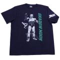 【DM便可】仮面ライダーBLACK(シャドームーン)Tシャツ(ネイビー)
