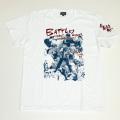 【DM便可】「仁義なき戦い」代理戦争イラストS/STシャツ(ホワイト)