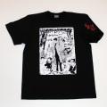 【DM便可】「仁義なき戦い」頂上作戦イラストS/STシャツ(ブラック)