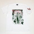 【DM便可】「仁義なき戦い」頂上作戦イラストS/STシャツ(ホワイト)