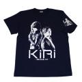 【DM便可】「KIRI」(釈由美子・久保田悠来)S/STシャツ(ネイビー)