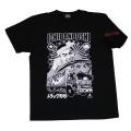 【DM便可】トラック野郎(はちまき桃さん)S/S Tシャツ(ブラック)