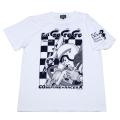 マッハGOGOGO「剛vs覆面レーサー」Tシャツ(ホワイト)