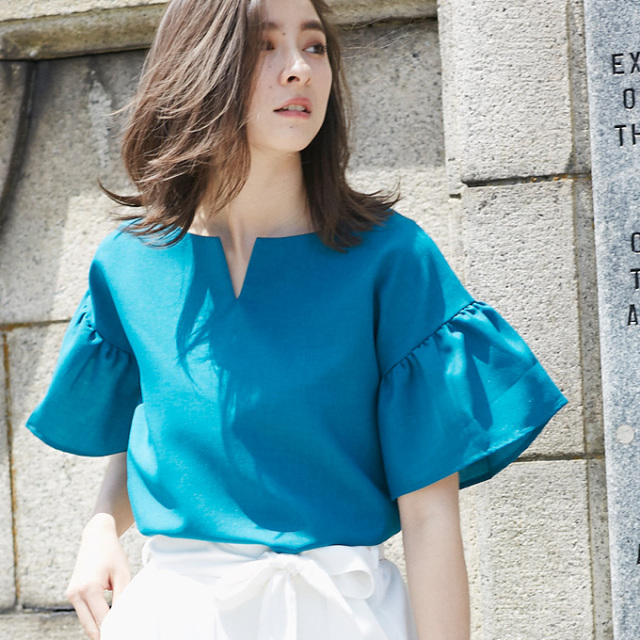 【Flare sleeve blouse】レディース フレア ブラウス*SALE品につき返品/交換/注文確定後の変更キャンセル不可*