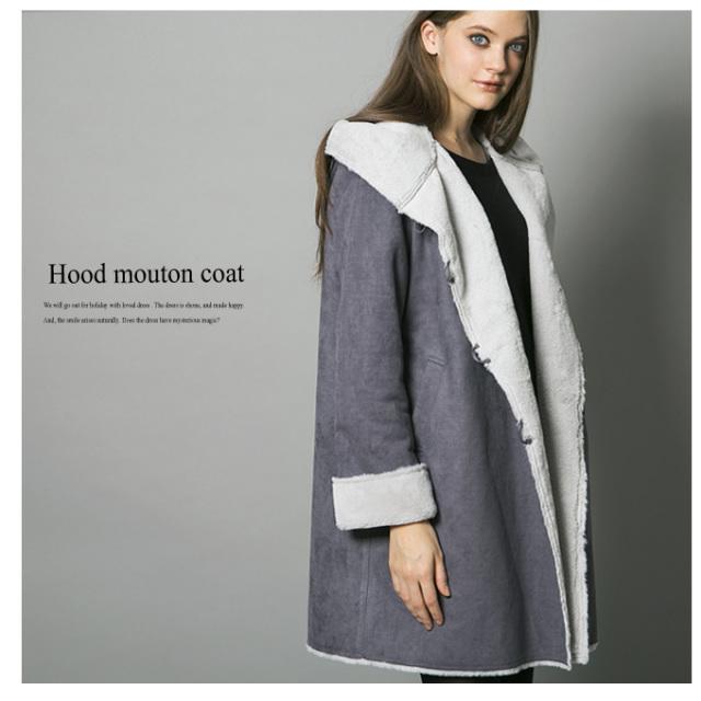 12月20日午前0:00再販《CLASSY.1月号掲載》【Hood mouton coat】レディース ムートン コート