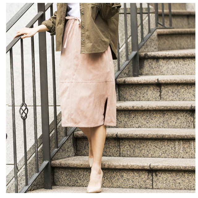 【Side slit skirt】レディース スカート*SALE品につき返品/交換/注文確定後の変更キャンセル不可*