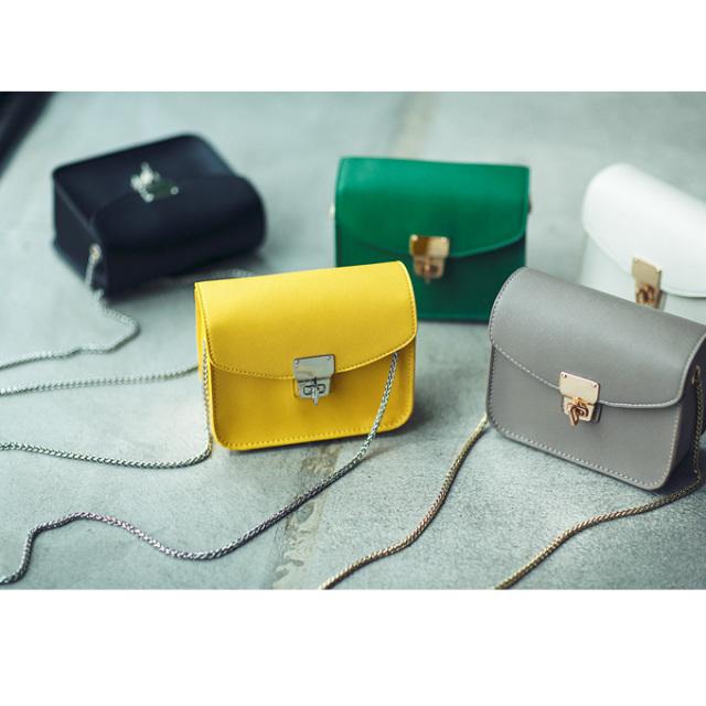 11月29日午前0:00【オンライン先行再販】!Noriko & Michiko Spring collaboration【Mini square chain bag】レディース ミニバッグ※店舗は12月3日(土)より順次入荷いたします。