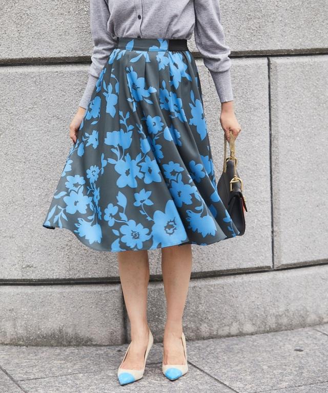 8月11日午前0:00再販!JJ1月号掲載【Tuck mimore skirt】レディース  タック ミモレ スカート