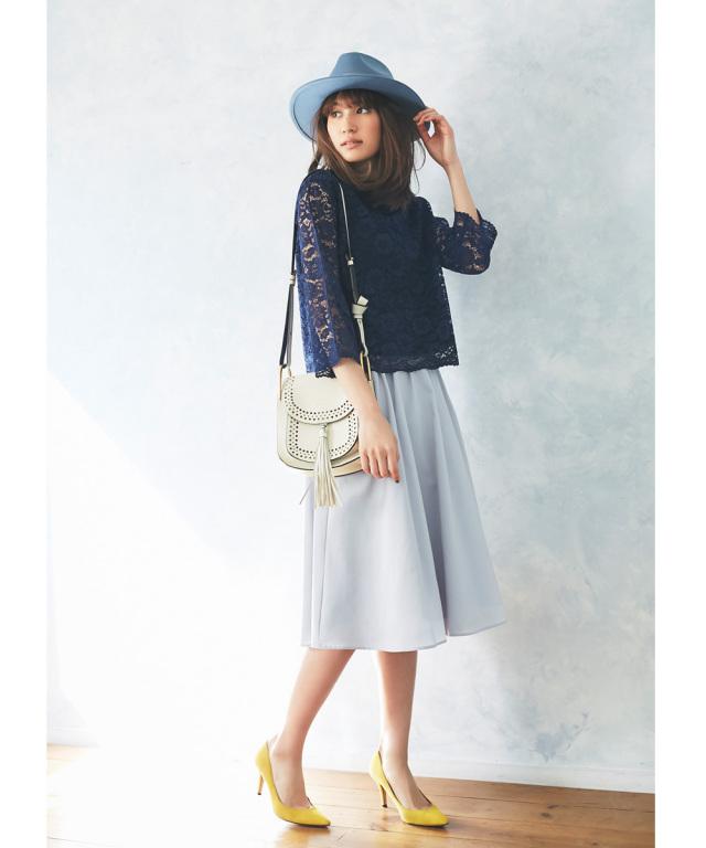 4月3日午前0:00再販!WITH 7月号掲載》JJ1月号掲載【Tuck mimore skirt】レディース  タック ミモレ スカート