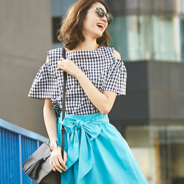 《WITH 7月号掲載》6月2日午前0:00再販【Cut off shoulder tops】レディース  肩見せ トップス