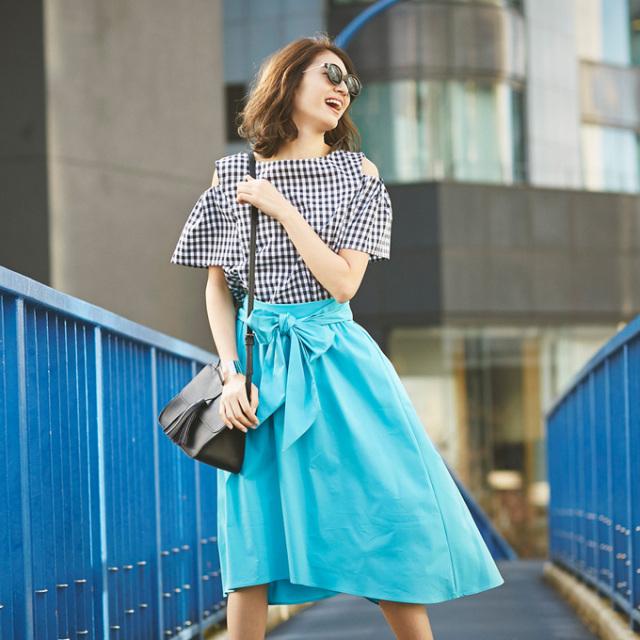 6月20日午前0:00再販《WITH 7月号掲載》【Ribbon fish tale skirt】レディース  フィッシュテール スカート