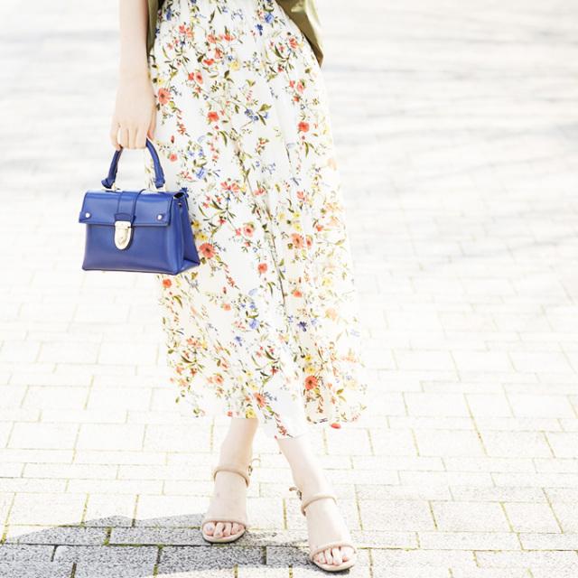【Flower print maxi skirt】レディース  花柄 マキシ スカート*SALE品につき返品/交換/注文確定後の変更キャンセル不可*