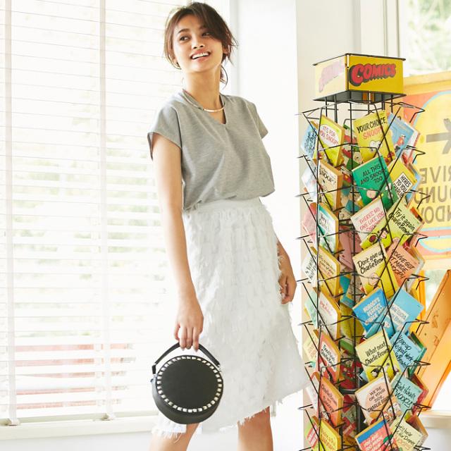 【Dot fringe skirt】ドット フリンジ スカート*SALE品につき返品/交換/注文確定後の変更キャンセル不可*