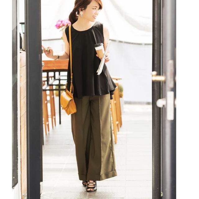 《CLASSY.10月号掲載》いつたけさんコラボ【High waist wide pants】
