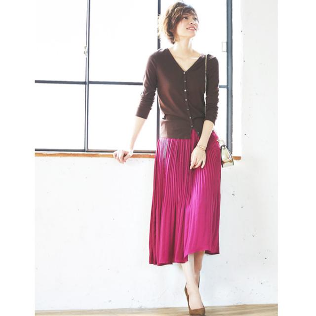 【Satin pleats skirt】サテン プリーツ スカート