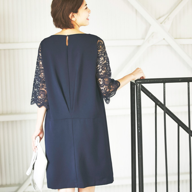 【Lace sleeve one piece】レーススリーブ ワンピース