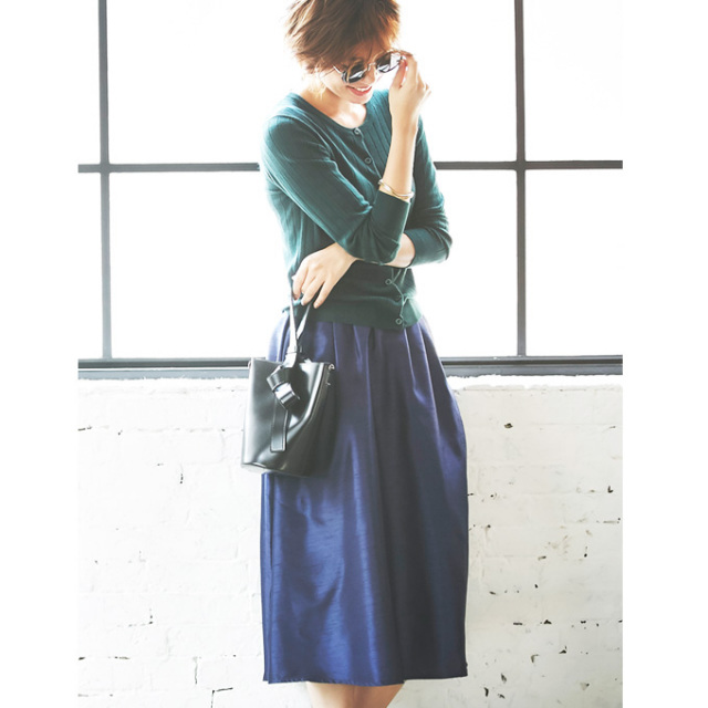 【Shantung mimore skirt】シャンタン ミモレ スカート
