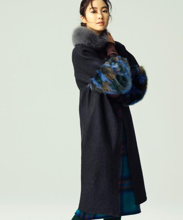 【Fur sleeve  cordigan】ファースリーブ コーディガン*SALE品につき返品/交換/注文確定後の変更キャンセル不可*