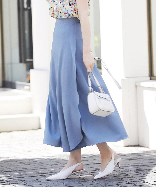 《WEB限定》ラップロングスカート
