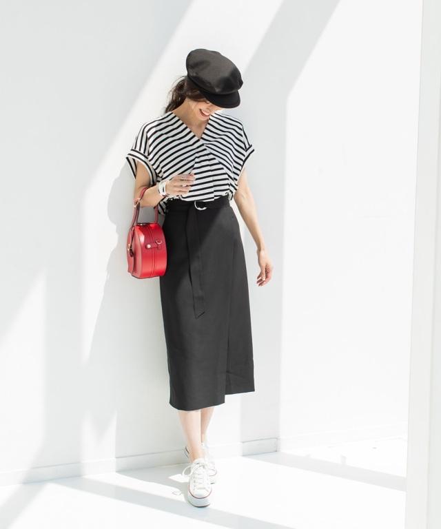 6月6日午前0:00再販!《MAYUさん着用》ラップ風ベルト付きタイトスカート