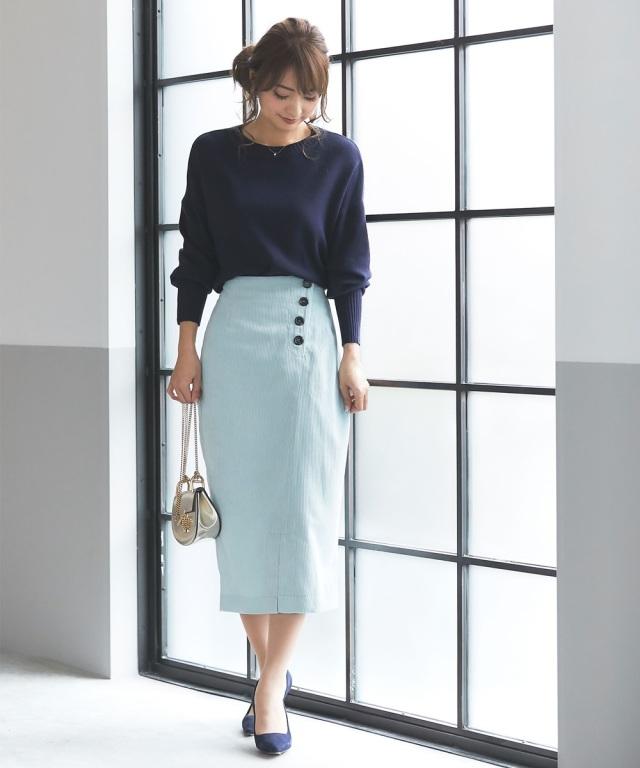 《@n.airi_taitoさん着用》コーデュロイタイトスカート*SALE品につき返品/交換/注文確定後の変更キャンセル不可*