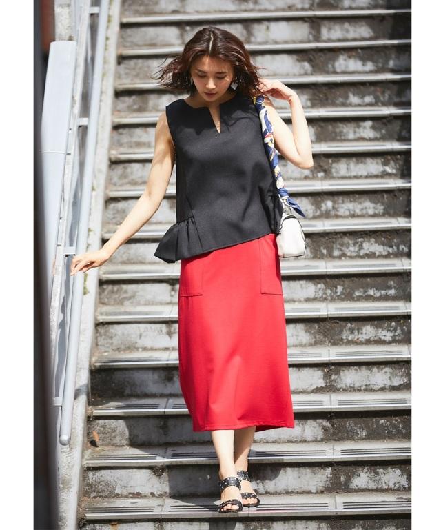 バックスリットストレッチタイトスカート*SALE品につき返品/交換/注文確定後の変更キャンセル不可*