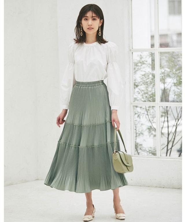 《@si_chaaaanさんコラボ》ティアードオフプリーツスカート