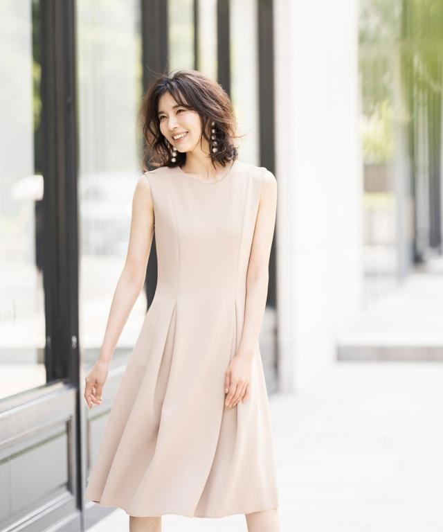 美シルエットノースリーブワンピース《Occasion Dress》