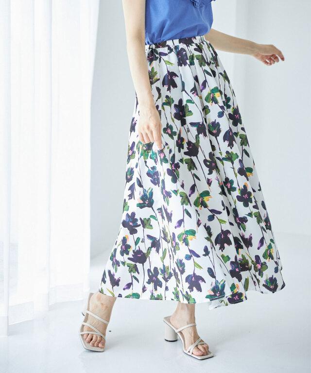 7月31日午前0:00 WEB Store限定再販!フラワーマキシスカート