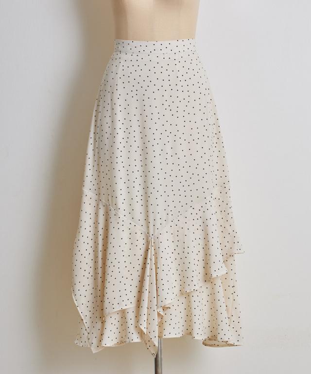 【@skinholictokyoさんコラボ】ヘムティアード切替ドットスカート