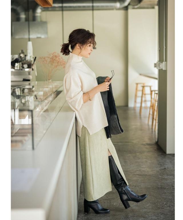 10月9日午前0:00 WEB Store限定再販!【Ayaさん着用】ポンチスエードタイトスカート《NEW LADY CHIC》