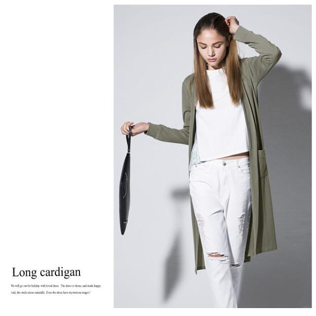 【Long cardigan】レディース カーディガン ロング