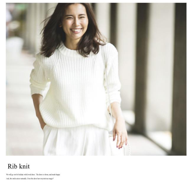 【Cocoon rib knit】レディース コクーン ニット