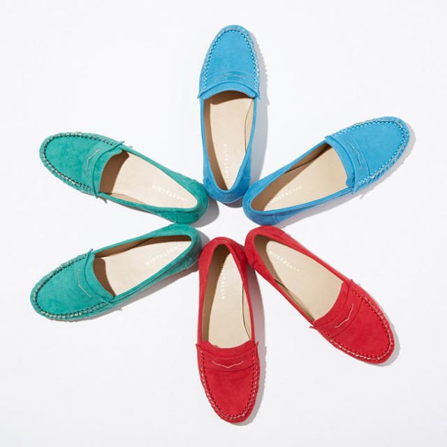 【Suede loafers】レディース スエード ローファー