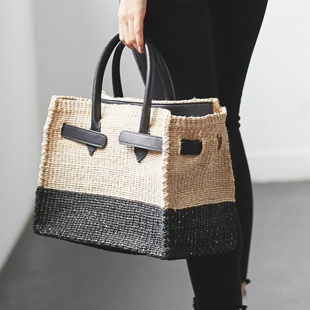 《JJ 7月号掲載》《with 8月号掲載》【Square basket bag】 かご バッグ