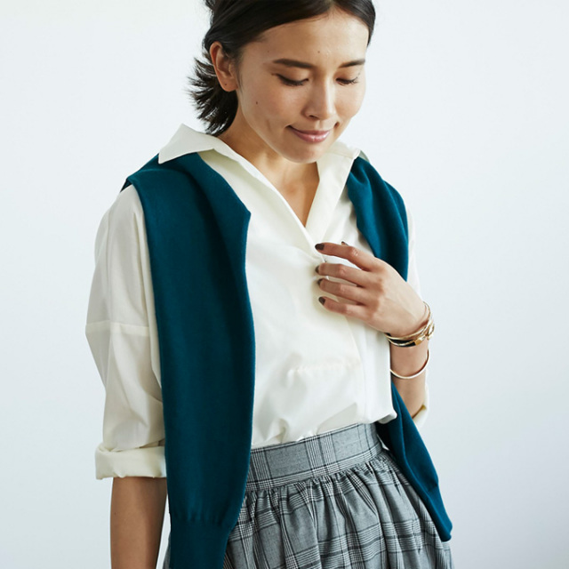【Skipper shirt】レディース  スキッパー シャツ*SALE品につき返品/交換/注文確定後の変更キャンセル不可*