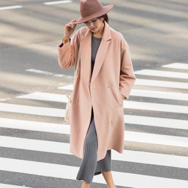 【Over size wool coat】レディース  ウール混 コート*SALE品につき返品/交換/注文確定後の変更キャンセル不可*