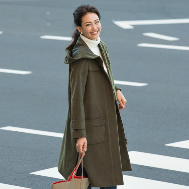 【Wool duffle coat】レディース  ウール混 コート*SALE品につき返品/交換/注文確定後の変更キャンセル不可*