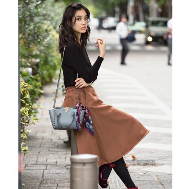 【Tweed fringe skirt】レディース  フリンジ スカート*SALE品につき返品/交換/注文確定後の変更キャンセル不可*