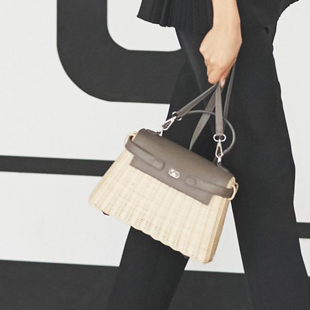 【Basket shoulder bag】レディース  かごバッグ