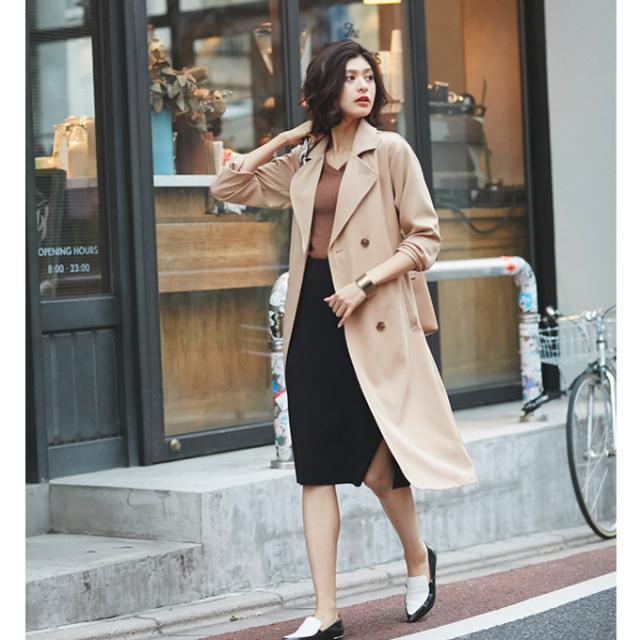 【Trench coat】レディース  テロンチ*SALE品につき返品/交換/注文確定後の変更キャンセル不可*